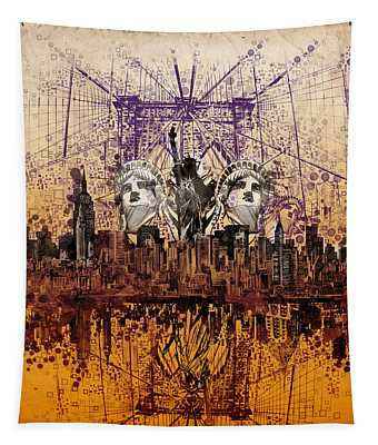Nyc Tribute Skyline 6 Tapestry