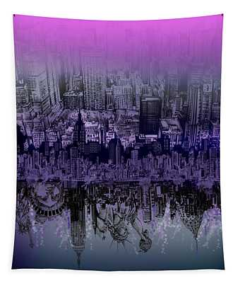 Nyc Tribute Skyline Tapestry