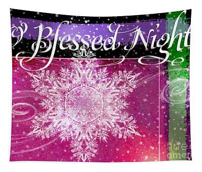 O Blessed Night Greeting Tapestry