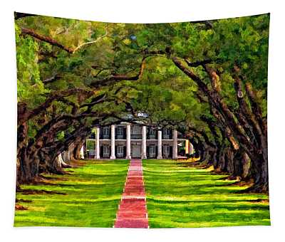 Oak Alley Paint Version Tapestry