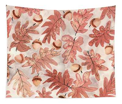 Oak Leaves And Acorns Tapestry