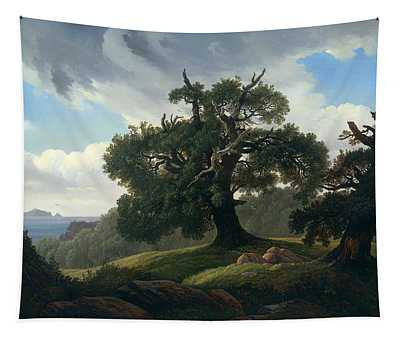 Oak Trees By The Sea Tapestry