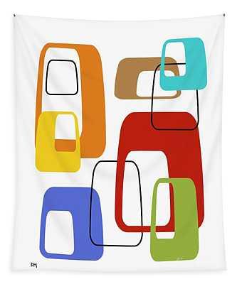Oblongs On White 4 Tapestry