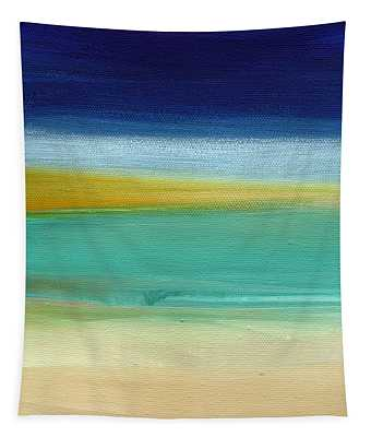 Ocean Blue 3- Art By Linda Woods Tapestry