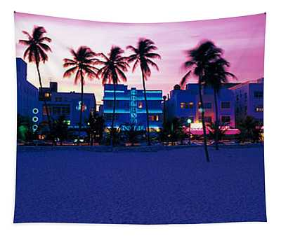 Ocean Drive Miami Beach Fl Usa Tapestry