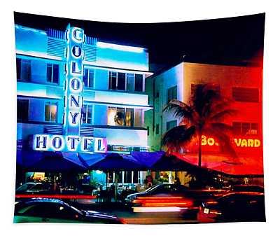 Ocean Drive Polaroid  Tapestry