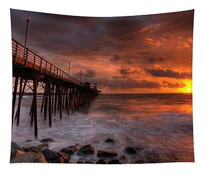 Oceanside Pier Perfect Sunset -ex-lrg Wide Screen Tapestry