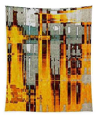 Ochre Urbanity Tapestry