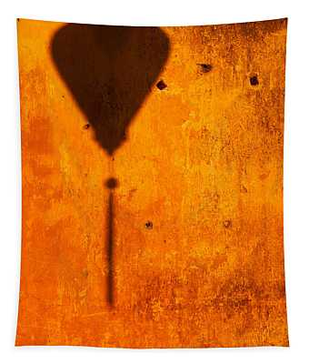Ochre Wall Lantern Shadow Tapestry
