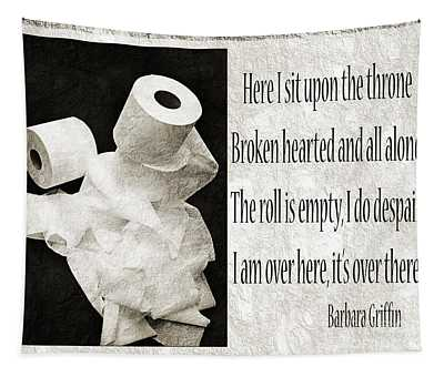 Ode To The Spare Roll Bw 2 Tapestry