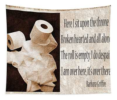 Ode To The Spare Roll Sepia 2 Tapestry