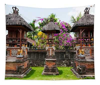 Offering Altars, Rejasa, Penebel, Bali Tapestry
