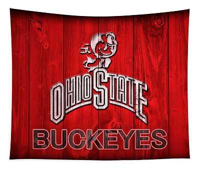 Ohio State Buckeyes Barn Door Vignette Tapestry