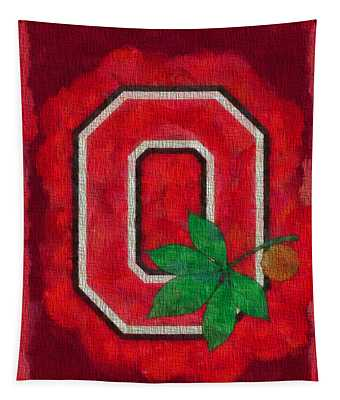 Ohio State Buckeyes On Canvas Tapestry