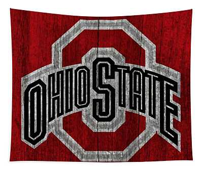 Ohio State University On Worn Wood Tapestry