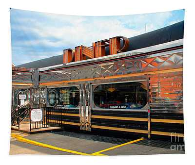 Ohio University Court Street Diner Tapestry