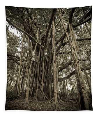 Old Banyan Tree Tapestry