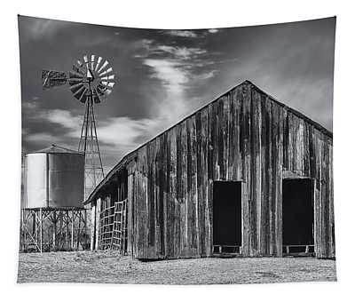 Old Barn No Wind Tapestry