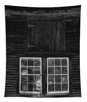 Old Barn Windows Tapestry