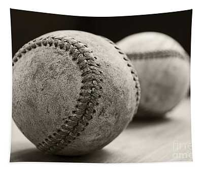 Old Baseballs Tapestry