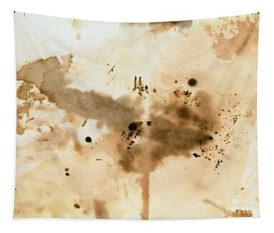 Old Dirty Paper With Blots Tapestry
