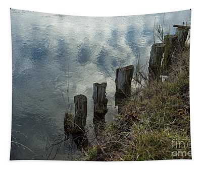 Old Dock Supports Along The Canal Bank - No 1 Tapestry