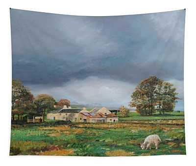 Old Farm, Monyash, Derbyshire, 2009 Oil On Canvas Tapestry