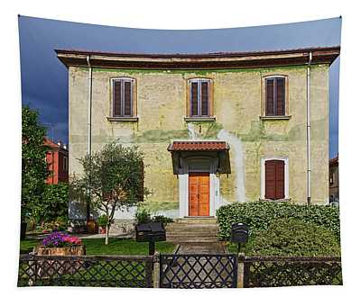 Old House In Crespi D'adda Tapestry