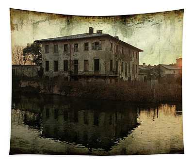 Old House On Canal Tapestry