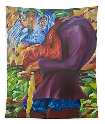 Old Man Collecting Sticks - But Not On The Sabbath Tapestry