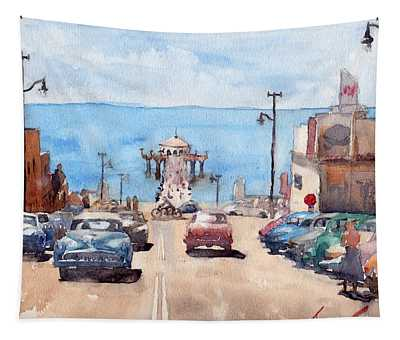 Old Manhattan Beach Tapestry