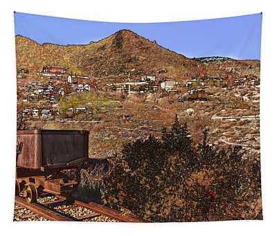 Old Mining Town No.24 Tapestry