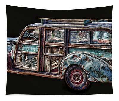 Old Packard Woody Tapestry