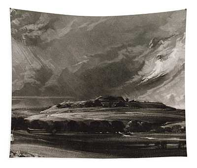 Old Sarum, Engraved By David Lucas 1802-81 C.1829 Mezzotint Tapestry
