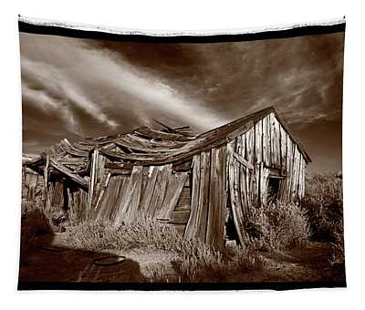 Old Shack Bodie Ghost Town Tapestry