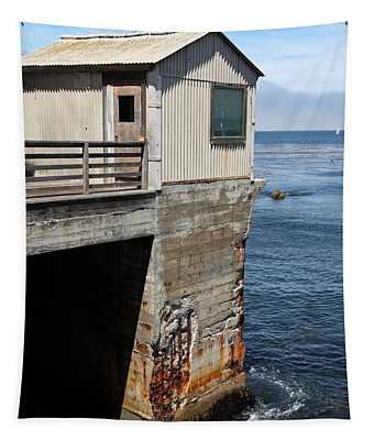 Old Shack Overlooking The Monterey Bay In Monterey Cannery Row California 5d25062 Tapestry