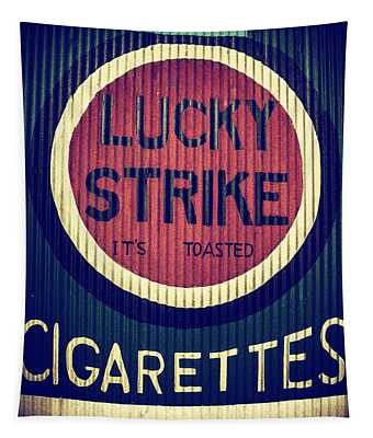 Old Time Cigarettes Tapestry