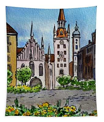 Old Town Hall Munich Germany Tapestry