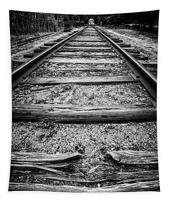 Old Train Tracks Tapestry