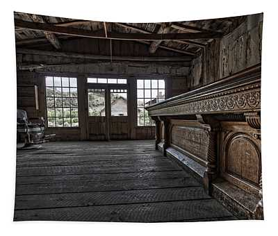 Old West Saloon Bar -- Bannack Ghost Town Montana Tapestry