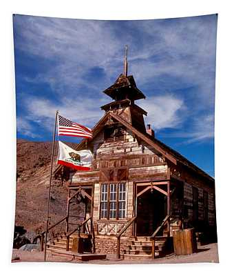 Old West School Days Tapestry