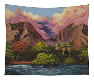 Tapestry featuring the painting Olowalu Valley by Darice Machel McGuire