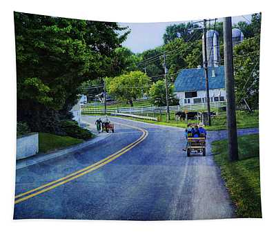 On A Country Road - Lancaster - Pennsylvania Tapestry