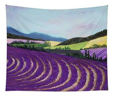 On Lavender Trail Tapestry