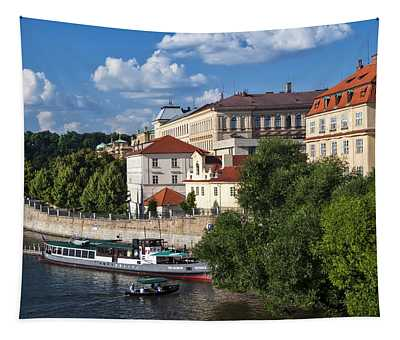 On The Shore Of Vltava. Prague Tapestry