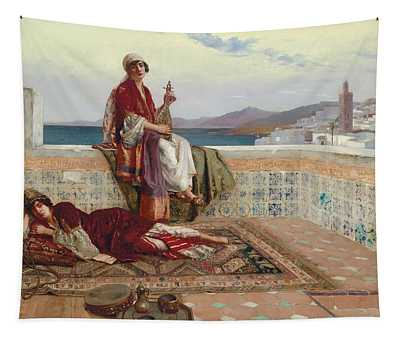 On The Terrace Tangiers Tapestry