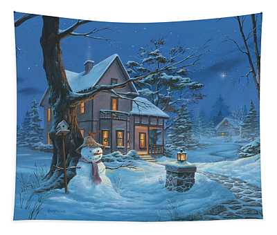Once Upon A Winter's Night Tapestry