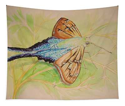 One Day In A Long-tailed Skipper Moth's Life Tapestry