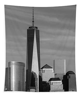 One World Trade Center Bw Tapestry