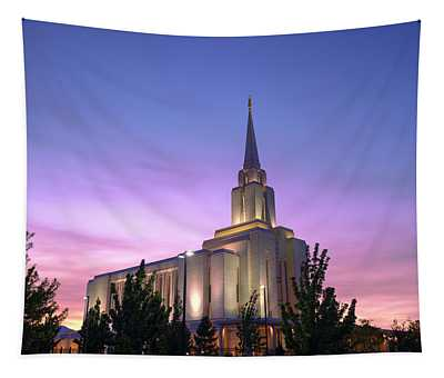 Oquirrh Mountain Temple Iv Tapestry